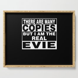 I Am Evie Funny Personal Personalized Gift Serving Tray
