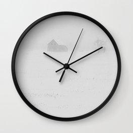 Blowing Snow Wall Clock