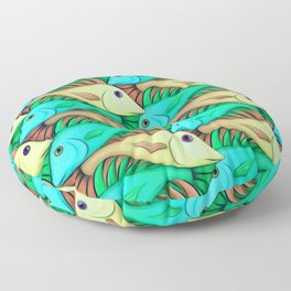 Tessellated Fish Floor Pillow