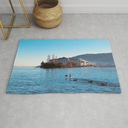 Italian island, Borromeo islands, italian lakes, lake fine art, fisherman's island Rug