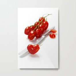 tomato heart - healthy eating concept Metal Print