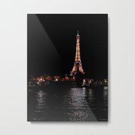 Rose Gold Eiffel Tower Metal Print