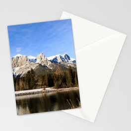 Mountains along the river. Stationery Cards