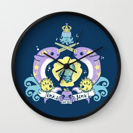 inki-Jinx Coat of Arms Wall Clock