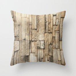 vertical ashlar Throw Pillow