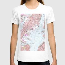 Vintage Map of Jersey City NJ (1967) T-shirt