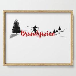 Ski at Brandywine Serving Tray