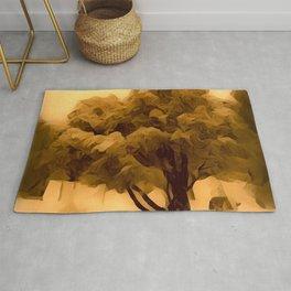 Sepia Juniper Tree by CheyAnne Sexton Rug