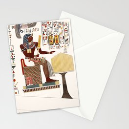 Vintage Print - Researches in Egypt (1820) - Sitting Figure and Hieroglyphic Inscription Stationery Cards