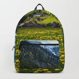 Switzerland Urnerboden mountain Taraxacum Houses Cities Mountains Dandelions Building Backpack