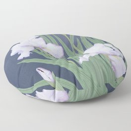 Japanese Water Iris Floor Pillow