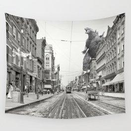 Godzilla Poughkeepsie Visit Wall Tapestry