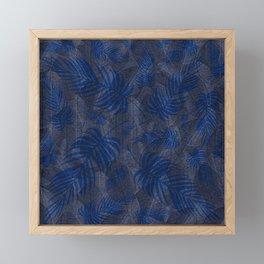 Leaves V3 BLUE Framed Mini Art Print
