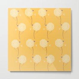 Lemon Mouse Sunshine and Happy Metal Print