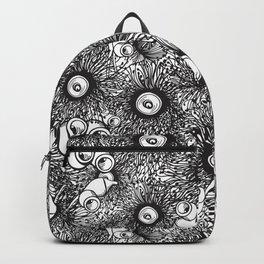 Gumnut & Eucalyptus flowering Black & White Love Backpack