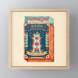 THE BURNING LIGHTHOUSE Framed Mini Art Print