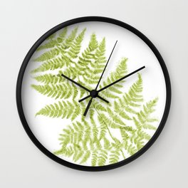 Fresh Fern Modern Botanical Wall Clock