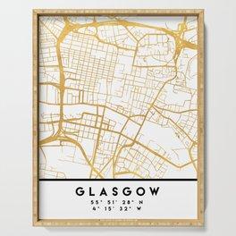 GLASGOW SCOTLAND CITY STREET MAP ART Serving Tray