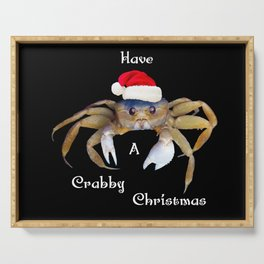 Crabby Christmas Serving Tray
