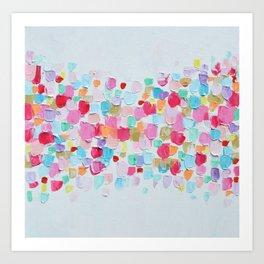 Magenta Confetti Art Print