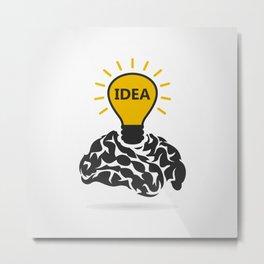 Idea of a brain Metal Print
