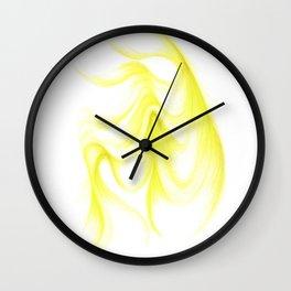 A Swathe of Deep Lime Wall Clock
