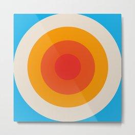 Kauai - Classic Colorful Abstract Minimal Retro 70s Style Graphic Design Metal Print