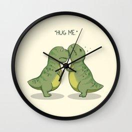 T-Rex Hugs Wall Clock