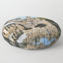 Bath Somerset Pulteney Bridge reflection Floor Pillow