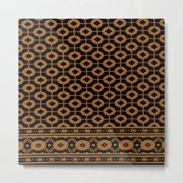 chiromani gold & black Metal Print
