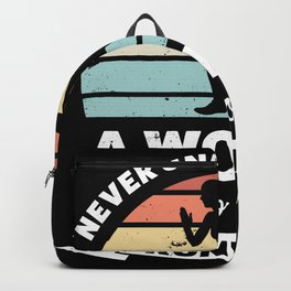 Woman who loves Running Funny Gift Wife Backpack