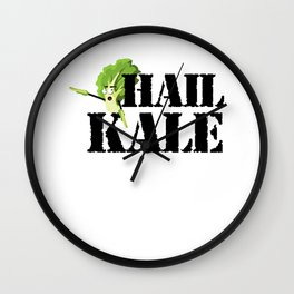 Hail Kale Kale Art for Vegans Vegetarians on Diet Light Wall Clock