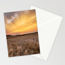 Big Sky Country - Scenic Sunrise Over Plains on Autumn Morning in Montana Stationery Cards