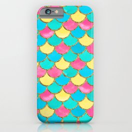 Mermaid Scales | Yellow, Pink and Blue iPhone Case