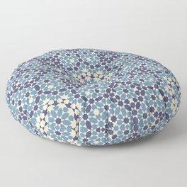 Moorish Desert Blues Floor Pillow