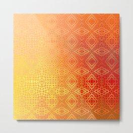 Diamonds Going On Forever (orange) Metal Print