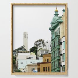 View of the Coit Tower Serving Tray