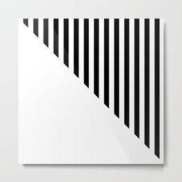 MINIMAL CHIC (BLACK-WHITE) Metal Print