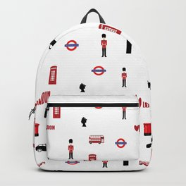 London pattern.London city.England. Backpack