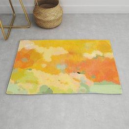 abstract spring sun Rug