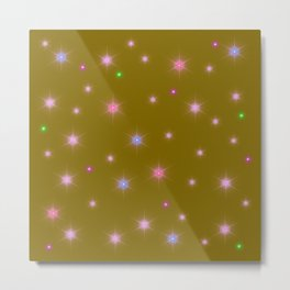 star pattern on gold Metal Print