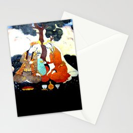 Persian Fresco Miniature Picnic in the Garden, Isfahan, Iran Stationery Cards