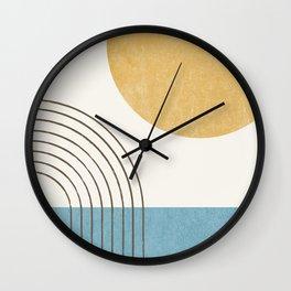 Sunny ocean Wall Clock