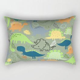 Dinosaurs jungle pattern Rectangular Pillow