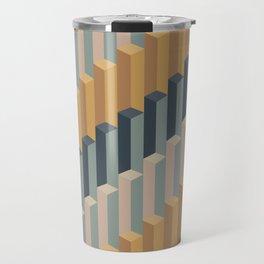 Geometric Columns II Travel Mug