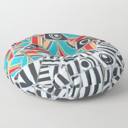 One, Two, Many Stripes Floor Pillow