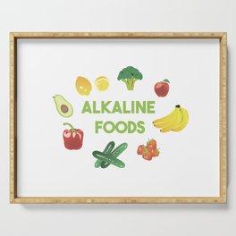 Alkaline Foods Healthy Diet Serving Tray