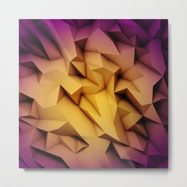 Colored crystal formation Metal Print