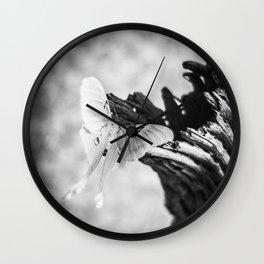 Luna Moth-Black and White Wall Clock