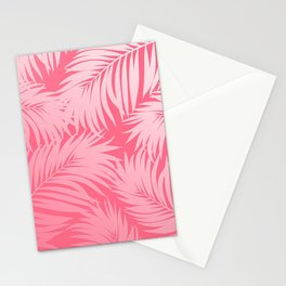 Palm Tree Fronds c'est parfait on pink Hawaii Tropical Décor Stationery Cards